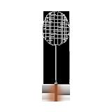 轻灵碳素羽毛球拍 单只装银色
