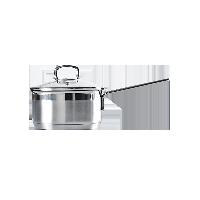 不锈钢奶锅16cm口径/约1.6L容量/有盖/直火电磁炉通用