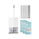 高效清洁组合1套装 伸缩杆懒人拖把+懒人抹布 4卷装+40片装 地板清洁湿巾 3包装