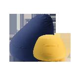 梨形/小豆丁懒人沙发懒人沙发组合 梨形(藏青)+小豆丁(黄色)