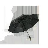 秋月鎏光 星空傘黑色