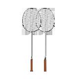 2只装 轻灵碳素羽毛球拍磨砂银 2只装