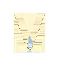 天空蓝托帕石 14K金项链项链