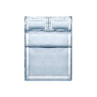醇仕·百支酒店风四件套1.8m床:适用2.2mx2.4m被芯*浅波蓝 四件套