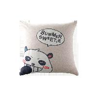夏日甜心方抱枕棕色