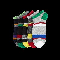 吸水速干运动男船袜黑+黄、藏青、深灰、黑+红、 浅灰