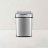 网易智造智能感应垃圾桶银灰色