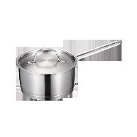 不锈钢奶锅16cm16cm/有盖/直火电磁炉通用
