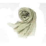 法国亚麻纯色围巾绿色