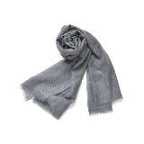 禅心羊毛围巾灰色
