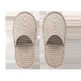 日式和风便携拖鞋粉色条纹