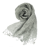 法國亞麻原色圍巾煙灰