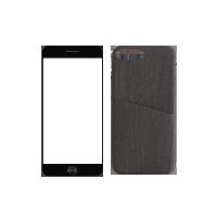 简约木纹手机壳+3D高清手机膜(组合装)iphone7p/8p壳(黑色)+膜(黑色