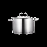 不锈钢汤锅 6.5L24cm/有盖/直火电磁炉通用
