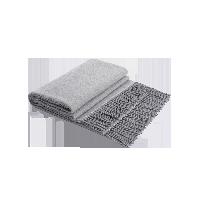 澳洲羊羔毛双面盖毯朦胧灰