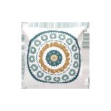 典雅美式全棉刺绣抱枕马蹄