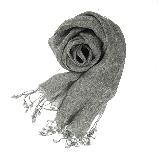 法国亚麻原色围巾深灰