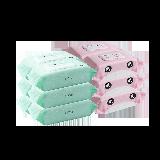 婴童清洁湿巾组合手口湿巾80片*6包+屁屁湿巾70抽*6包