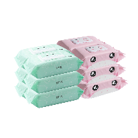 嬰童清潔濕巾組合手口濕巾80片*6包+屁屁濕巾70抽*6包