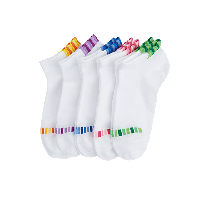 精梳棉运动女船袜白+粉红、白+紫色、白+蓝色、白+桔色、白+绿色