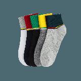 抗菌防臭运动男袜特白、深灰、藏青、黑色、浅灰