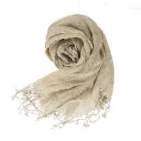 法國亞麻原色圍巾原色
