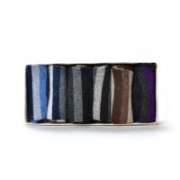 兔羊毛提花保暖男袜(六双入)黑+深灰、深灰、黑+深紫、深上青、深咖啡、中灰