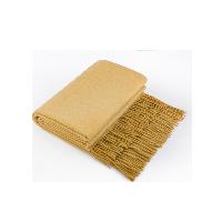 澳洲羊羔毛双面盖毯生姜黄