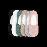 精梳棉隐形女袜深绿,驼色,黑色,浅粉红,浅灰,本白