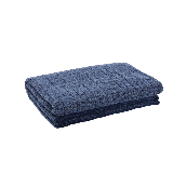 色织精梳AB纱格纹空调被蓝色