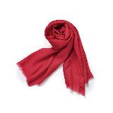 禅心羊毛围巾红色