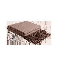 澳洲羊羔毛双面盖毯香檀红