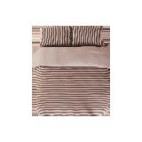 全棉针织条纹四件套 老款1.5米*咖色条纹