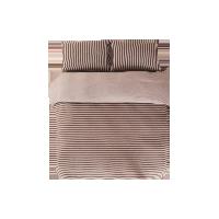 全棉針織條紋四件套 老款1.5米*咖色條紋