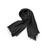 禅心羊毛围巾黑色