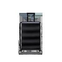 20寸純PC橫紋登機箱經典黑