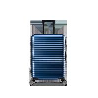 20寸純PC橫紋登機箱深海藍