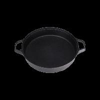 中华铸铁平底煎锅30cm黑色(无盖)