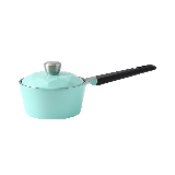 陶瓷涂層耐用多用鍋16cm薄荷綠/鉆石鍋蓋/直火使用/電磁爐不可用