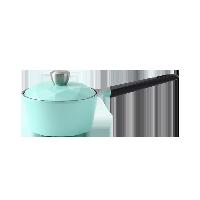 陶瓷涂层耐用多用锅16cm薄荷绿/钻石锅盖/直火使用/电磁炉不可用