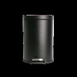 脚踏式静音垃圾桶 12L黑色12L
