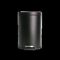腳踏式靜音垃圾桶 12L黑色12L