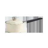 陶瓷涂层耐用多用锅16cm象牙白/钻石锅盖/直火使用/电磁炉不可用