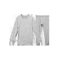 男式咖啡碳保暖内衣(可单买上衣/裤子)浅麻灰保暖套装*XL