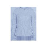 女式可机洗圆领纯羊毛衫浅蓝色*S(160/80A)≈165g