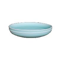 龙泉原矿粉青釉餐具碗盘【2件装】8寸月亮深盘