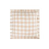 日式水洗棉格紋抱枕套66cmx66cm(僅抱枕套)*櫻花粉