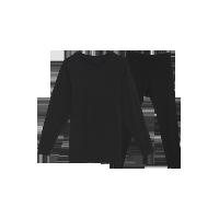 男式咖啡碳保暖内衣(可单买上衣/裤子)黑色保暖套装*M