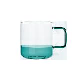 手工拼色耐热玻璃杯海洋绿