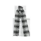 风致格纹羊毛围巾墨灰